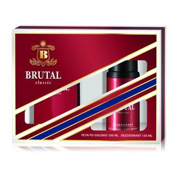 Brutal Classic zestaw prezentowy (płyn po goleniu 100 ml + dezodorant spray 150 ml)
