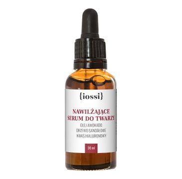 iossi Nawilżające serum do twarzy olej awokado drzewo sandałowe i kwas hialuronowy (30 ml)
