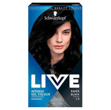 Schwarzkopf – Live Intense Gel Colour koloryzacja do włosów w żelu 1.0 Raven Black (1 szt.)