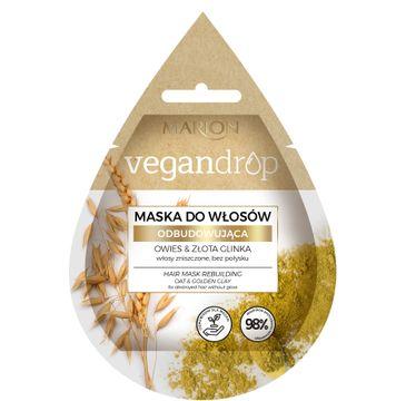 Marion Vegan Drop 鈥� maska do w艂os贸w odbudowuj膮ca Owies & Z艂ota Glinka (20 ml)