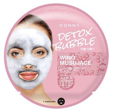 Conny Detox Bubble Mask – oczyszczająco-nawilżająca czarna maseczka bąbelkująca do twarzy Wino Musujące (1 szt.)