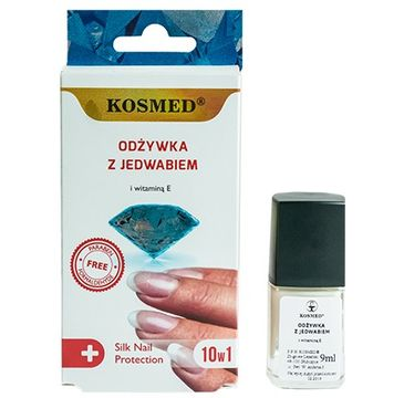 Kosmed odżywka do paznokci z jedwabiem i witaminą E 10 w 1 9 ml