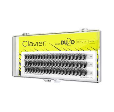 Clavier – DU2O Double Volume MIX kępki rzęs 9mm-10mm-11mm (1 op.)