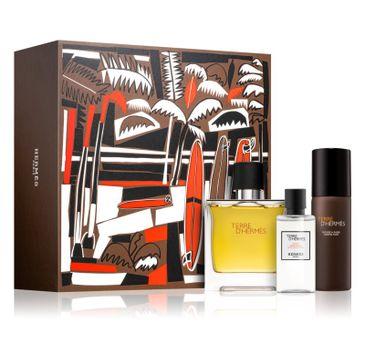 Terre D'Hermes zestaw woda perfumowana spray 75ml + woda po goleniu 40ml + pianka do golenia 50ml
