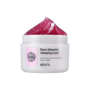 Skin79 – Różana maska rozjaśniająco-złuszczająca całonocna Rose Waterful (100 ml)fu