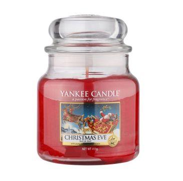Yankee Candle – Świeca zapachowa średni słój Christmas Eve (411 g)