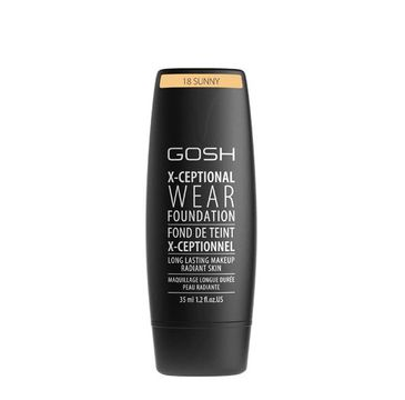Gosh X-Ceptional Wear Foundation Long Lasting Makeup (długotrwały podkład do twarzy 18 Sunny 35 ml)