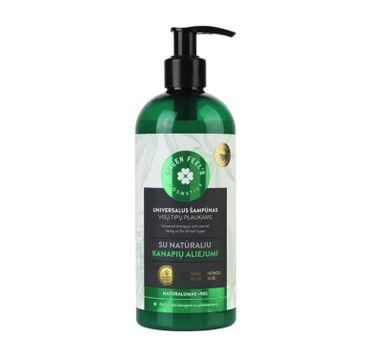 Green Feel's – Hair Shampoo uniwersalny szampon do włosów olej konopi (400 ml)