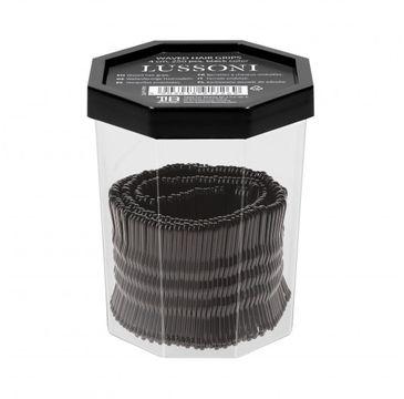 Lussoni – Wsuwki do włosów czarne karbowane 4cm (250 szt.)