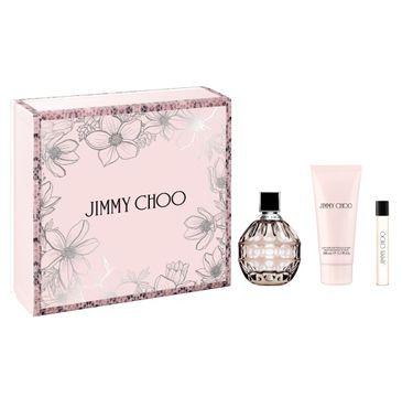 Jimmy Choo – zestaw woda perfumowana spray 100ml + balsam do ciała 100ml + miniatura wody perfumowanej 7.5ml (1 szt.)