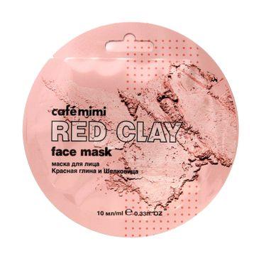 Cafe Mimi – Maseczka do twarzy Czerwona glinka i morwa (10 ml)