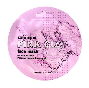 Cafe Mimi – Maseczka do twarzy Różowa glinka i Róża (10 ml)