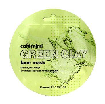 Cafe Mimi – Maseczka do twarzy Zielona glinka i jagody Goji (10 ml)