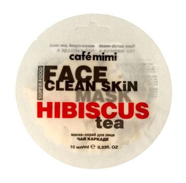 Cafe Mimi – Maseczka-scrub do twarzy Hibiskus i Jaśmin (10 ml)
