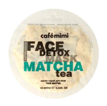 Cafe Mimi – Maseczka-scrub do twarzy Matcha & Aloe Vera Herbata (10 ml)