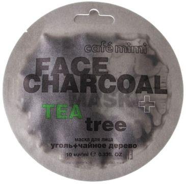 Cafe Mimi – Maseczka do twarzy Bambusowy węgiel i drzewo herbaciane (10 ml)