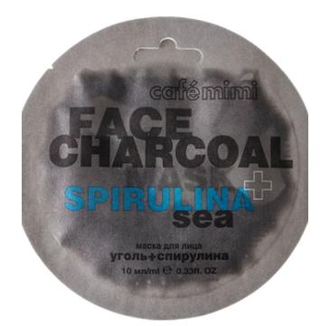Cafe Mimi – Maseczka do twarzy Bambusowy węgiel i spirulina (10 ml)