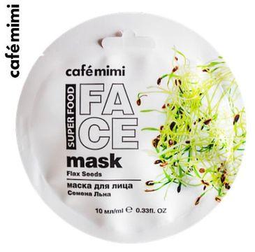 Cafe Mimi – Maseczka do twarzy Len i Mleko migdałowe (10 ml)