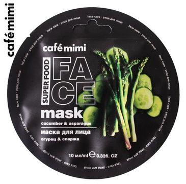Cafe Mimi – Maseczka do twarzy Ogórek i Szparagi (10 ml)