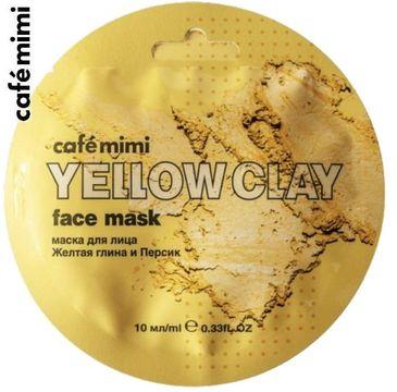 Cafe Mimi – Maseczka do twarzy Żółta glinka i brzoskwinia (10 ml)
