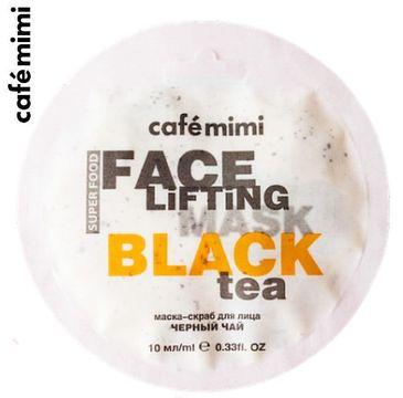 Cafe Mimi –Maseczka-scrub do twarzy Czarna herbata i trawa cytrynowa (10 ml)