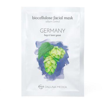Calluna Medica maseczka (Germany Sebum Control Biocellulose Facial Mask regulująca sebum maseczka w płachcie z biocelulozy 12 ml)