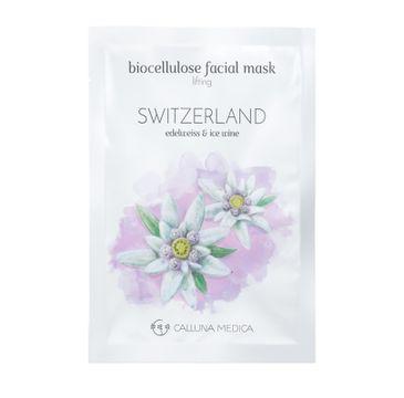 Calluna Medica maseczka (Switzerland Lifting Biocellulose Facial Mask liftingująca maseczka w płachcie z biocelulozy 12 ml)