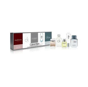 Calvin Klein Deluxe Fragrance Travel Collection For Men zestaw CK One 10ml + Euphoria 10ml + Eternity 10ml + CK2 10ml + CK Free 10ml (1 szt.)