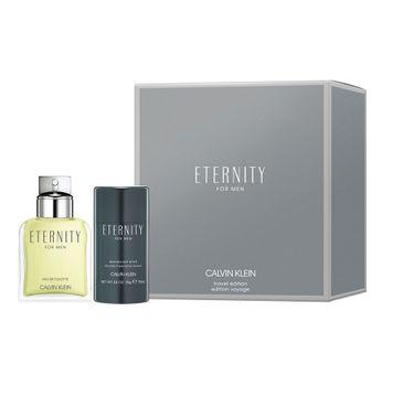 Calvin Klein – Eternity For Men zestaw woda toaletowa spray 100ml + dezodorant sztyft 75ml (1 szt.)