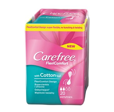 Carefree Flexi Comfort Cotton Feel wkładki higieniczne 1 op.- 20 szt.