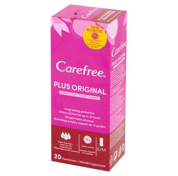 Carefree Plus Original Wkładki higieniczne Fresh Scent - świeży zapach 1 op. - 20 szt.