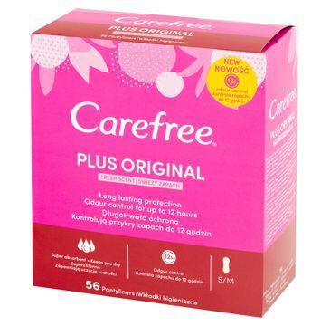 Carefree Plus Original Wkładki higieniczne Fresh Scent - świeży zapach 1 op. - 56 szt.