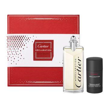 Cartier Declaration zestaw prezentowy woda toaletowa spray 100 ml + dezodorant sztyft 75 ml