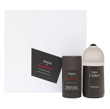 Cartier Pasha de Carier Edition Noire zestaw woda toaletowa spray 100ml + dezodorant sztyft 75ml