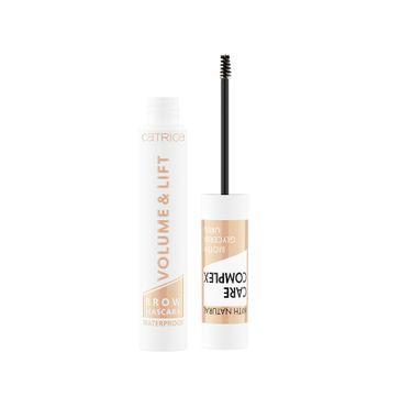 Catrice Volume & Lift Brown Mascara Waterproof wodoodporny pogrubiający i podnoszący tusz do brwi 010 Transparent (5 ml)