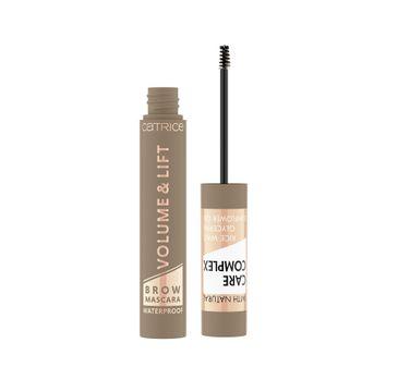 Catrice Volume & Lift Brown Mascara Waterproof wodoodporny pogrubiający i podnoszący tusz do brwi 020 Blonde (5 ml)