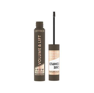 Catrice Volume & Lift Brown Mascara Waterproof wodoodporny pogrubiający i podnoszący tusz do brwi 030 Medium Brown (5 ml)