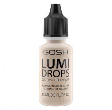 Gosh Lumi Drops Highlighter (rozświetlacz w płynie 002 Vanilla 15 ml)
