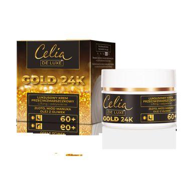 Celia – De Luxe Gold 24k 60+  krem lifting i odżywienie (50 ml)