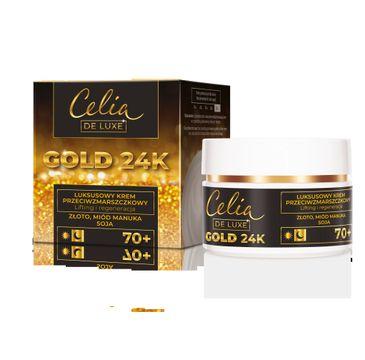 Celia – De Luxe Gold 24k 70+ krem przeciwzmarszczkowy lifting +regenracja (50 ml)
