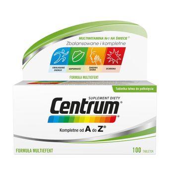 Centrum Kompletne od A do Z zestaw witamin i minerałów suplement diety (100 tabletek)