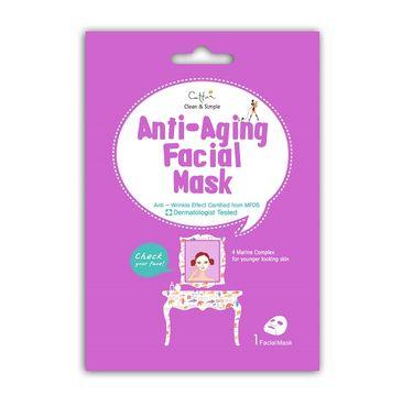 Cettua Anti-Aging Facial Mask maska ograniczająca oznaki starzenia w płacie