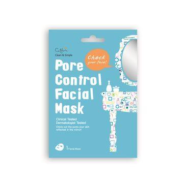 Cettua Pore Control Facial Mask maska na rozszerzone pory w płacie