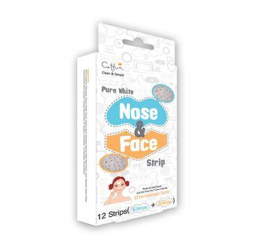 Cettua Pure White Nose & Face Strip 12 paski oczyszczające na twarz 12 sztuk