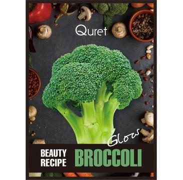 Quret – Beauty Recipe Mask Glow rozświetlająca maska w płachcie Brokuł (25 g)