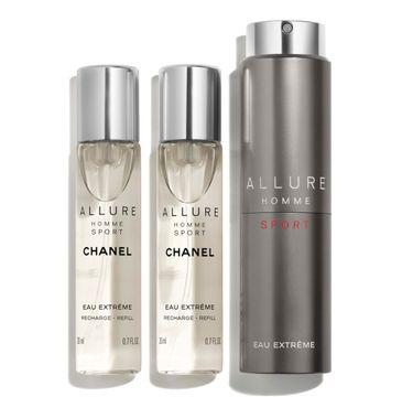 Chanel Allure Homme Sport Eau Extreme woda toaletowa spray 20ml + 2x20ml refill