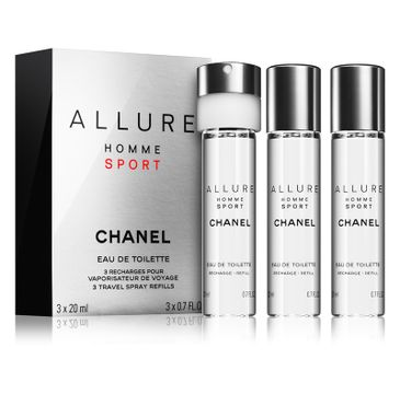 Chanel Allure Homme Sport woda toaletowa spray 20ml + wkład 2x20ml