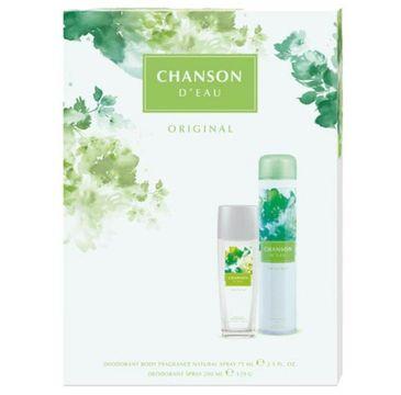 Chanson D'Eau – zestaw prezentowy Original dezodorant naturalny (75 ml) + dezodorant  spray (200 ml)