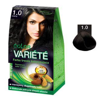 Chantal Variete Color Permanent Color Cream farba trwale koloryzująca 1.0 Czarny 50g