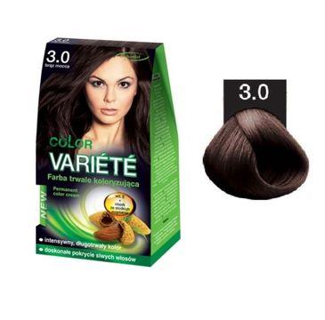 Chantal Variete Color Permanent Color Cream farba trwale koloryzująca 3.0 Brąz Mocca 50g